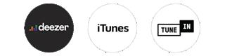 Deezer, iTunes, TuneIn