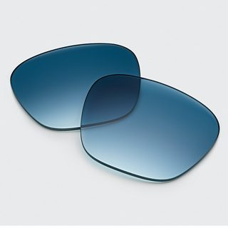 Gradient Blue lenses and man wearing Frames Alto with Gradient Blue lenses
