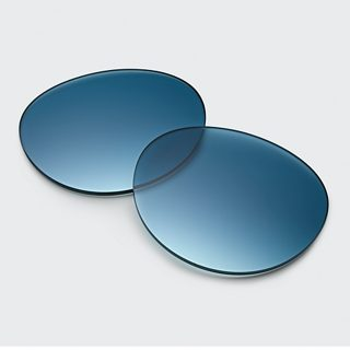 Gradient Blue Lenses and woman wearing Frames Rondo with Gradient Blue Lenses