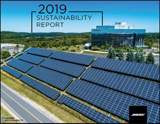 1d13243e Cover page of the Bose 2019 Sustainability Report