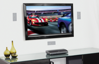 HDTV showing auto racing
