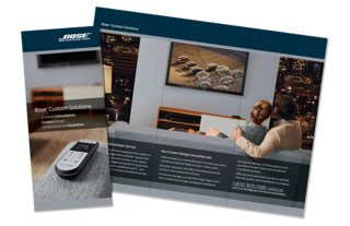 Bose Custom Solutions brochure