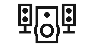 Bass module and speakers icon