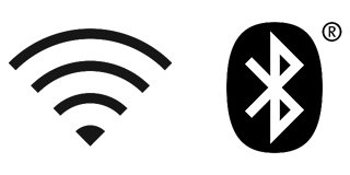 Pictogram Wifi en Bluetooth
