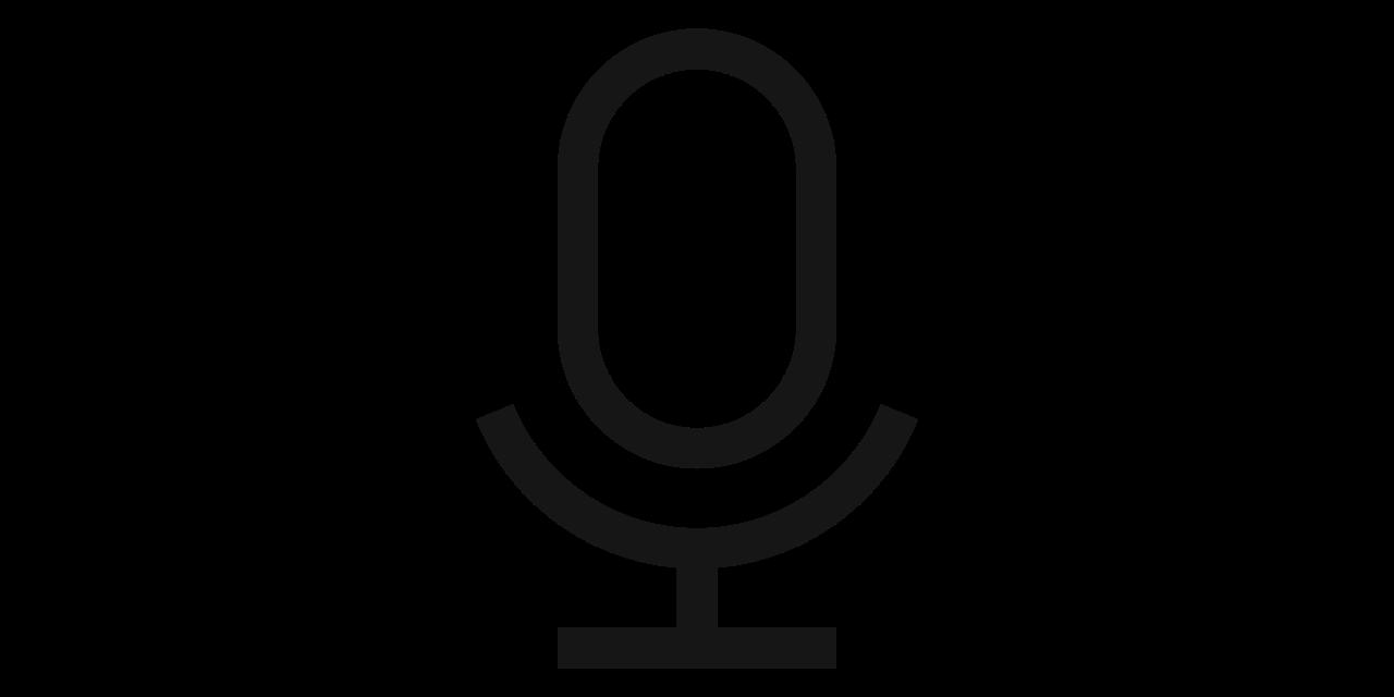 Icono de captación de voz