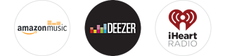 Amazon music, Deezer, iHeart radio
