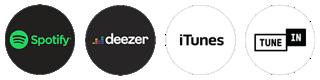 Spotify, Deezer, iTunes, TuneIn