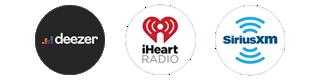 Deezer, iHeartRadio, SiriusXM