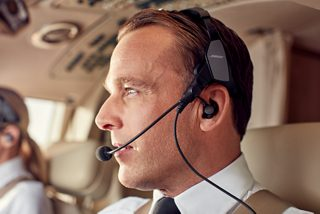 Pilot wearing ProFlight Aviation Headset Series 2