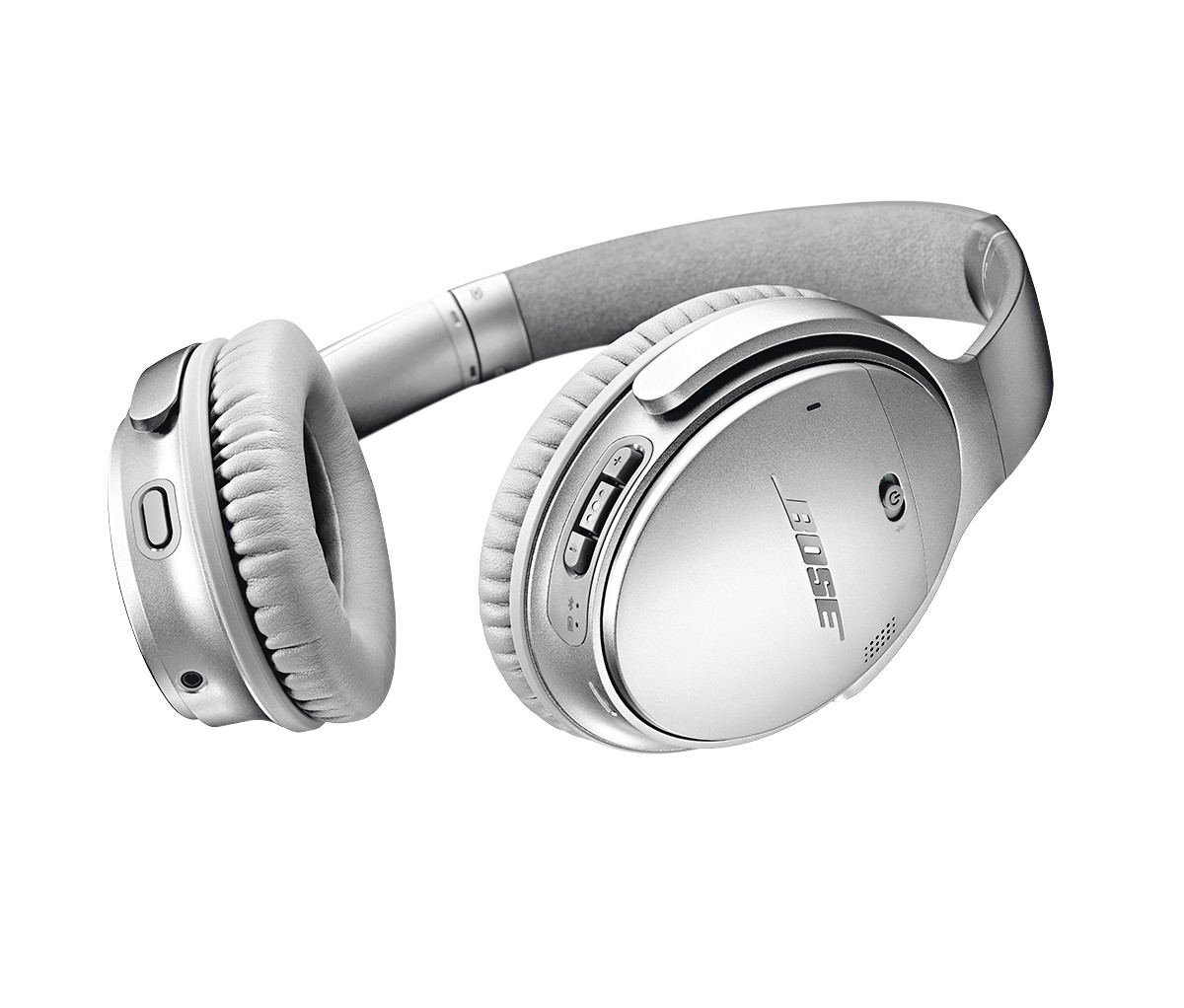 d7a0eee21ea The Bose QuietComfort 20 portable noise canceling earphones have a  isolating earbud design. Choose from around-ear or in-ear, wired and  wireless products ...