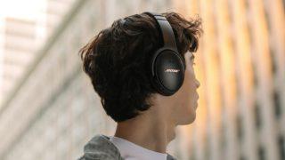 Man wearing QuietComfort 35 II Gaming Headset outside