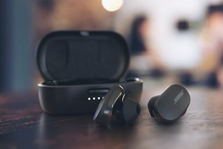 Triple Black Bose QuietComfort Earbuds and the charging case