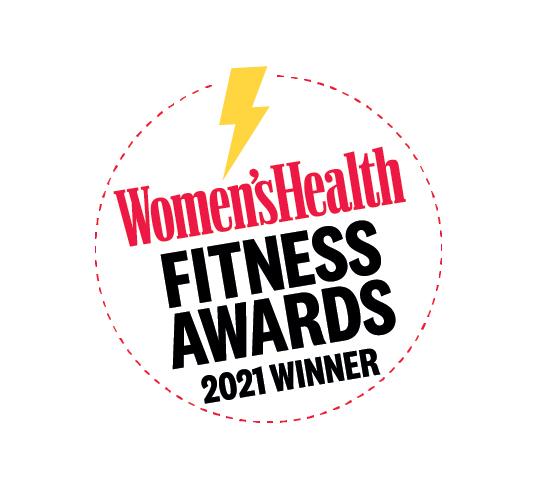 Награди за здраве на жените за фитнес за 2021 г. Лого на победителя