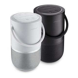 Triple Black and Luxe Silver Bose Portable Home Speakers