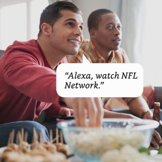 2 men watching TV