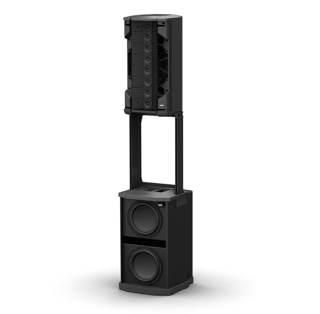Two F1 Model 812 Flexible Array loudspeakers with F1 Subwoofer
