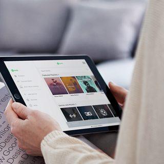 Tablet met de SoundTouch-app