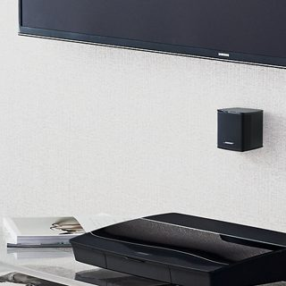 Wall-mounted Virtually Invisible speaker and control console