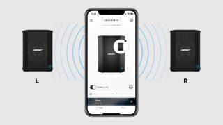 Aplicación Bose Connect con un S1 Pro en la pantalla de un smartphone