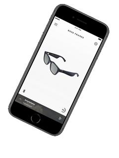 Smartphone avec application Bose Connect pour lunettes Bose Frames Alto