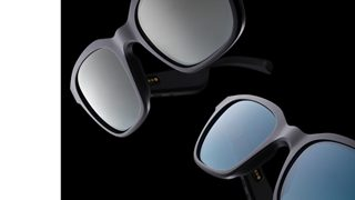 Bose Frames Alto shown with Mirrored Silver and Gradient Blue Lenses