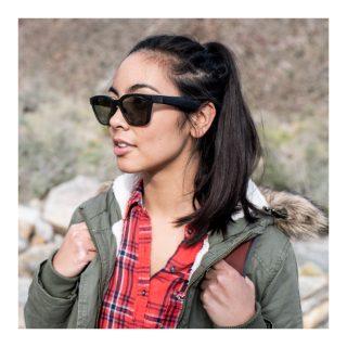Woman hiking wearing Bose Frames Alto