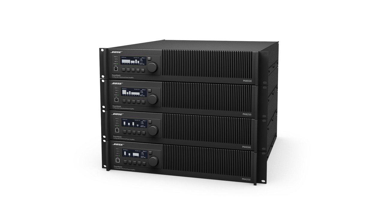 powermatch pm4250 pm4250n power amplifiers bose professional. Black Bedroom Furniture Sets. Home Design Ideas