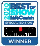 Best of show InfoComm 2020 award