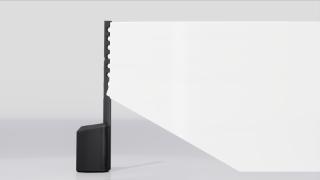 L1 Pro16 som visar vertikal täckning med det J-formade högtalarsystemet