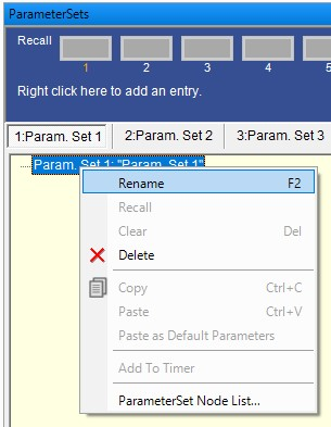A Descriptive Name For Each Parameter Set Can Eliminate Confusion And Prevent Incorrect Assignment Of Parameter Sets